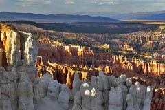 Some columns from white sandstone. The well-known white rocks in Bryce canyon in state of Utah USA Stock Photo