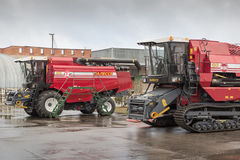 Some Combine harvesters in stock. Stock Images