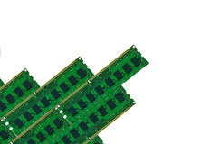 Some computer memory board isolated on white Royalty Free Stock Photography