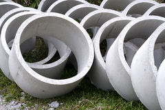 Some concrete tubes Royalty Free Stock Photo