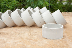 Some concrete tubes Royalty Free Stock Photography