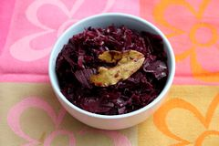 Red Cabbage. Some cooked red cabbage with spices in a bowl Royalty Free Stock Image