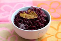 Red Cabbage. Some cooked red cabbage with spices in a bowl Royalty Free Stock Images
