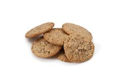 Some cookies on a white background Royalty Free Stock Photography