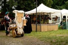 Medieval camp at Un Tuffo Nel Passato 2017 Stock Photos