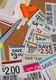 Some coupon saving. It is coupons saving for shopping Royalty Free Stock Photos