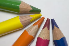 Some crayons Stock Photos