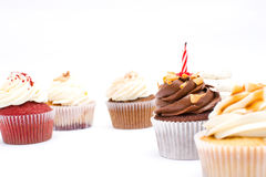 Some cupcakes. Some sweet cupcakes of birthday royalty free stock photo
