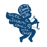 Some cupid kills with arrows some with traps Royalty Free Stock Photo
