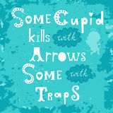 Some cupid kills with arrows some with traps Royalty Free Stock Image