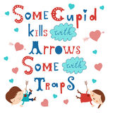 Some cupid kills with arrows some with traps Stock Photos