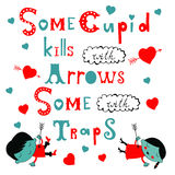 Some cupid kills with arrows some with traps. Royalty Free Stock Photos