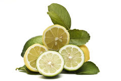 Some cut lemons. Stock Photos