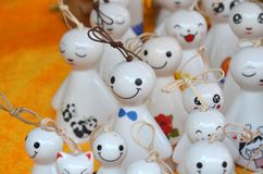 Some cute doll pendant. In the maket royalty free stock photo