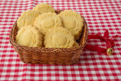 Some decorated traditional  butter biscuits Stock Photo