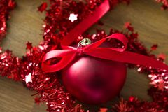 Some decorative christmas balls. Christmas is the time of the year when we decorate our home and work place with christmas balls and ornaments. The scene in this stock photos
