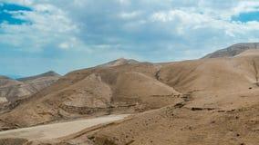 Some desert near Dead sea. Desert near Dead sea with mountains Stock Photo