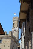 Some details of medieval Italian cities. Classical medieval streets Stock Photo
