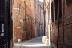 Some details of medieval Italian cities. Classical medieval streets Royalty Free Stock Images