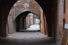Some details of medieval Italian cities. Classical medieval streets Stock Photography