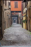 Some details of medieval Italian cities. Classical medieval streets Stock Photos