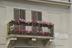 Navona square details in Rome royalty free stock photography