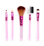 Some different kind of make-up brushes  on white. Royalty Free Stock Images