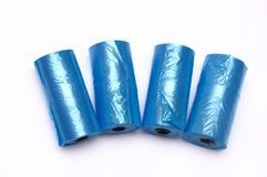Some dog poo bags Stock Photography