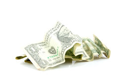 Some dollar bills Royalty Free Stock Photos