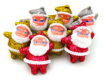 Some dolls of Santa Claus are together Royalty Free Stock Image