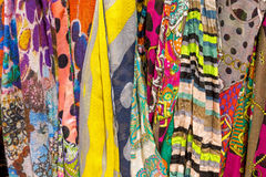 Colourful drapery for sale Stock Photography