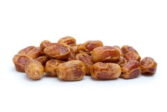 Some dried dates. Isolated on the white background Royalty Free Stock Image