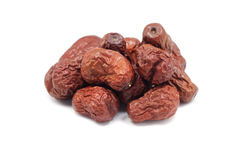 Some dried dates. On white background royalty free stock image