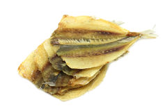 Some dried fish. On a white background Royalty Free Stock Images