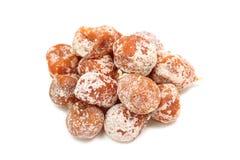 Some dried orange tangerine. On a white background royalty free stock photo