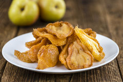 Some dried Pears (selective focus). Some dried Pears (selective focus, close-up shot) on wooden background Stock Images