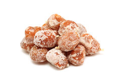 Some dried tangerine. On a white background Stock Photography