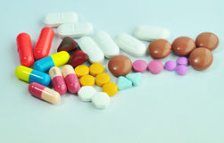 Some Drug. All drug colorful for the human Royalty Free Stock Images