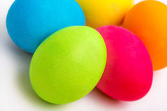 Some easter eggs. Arranged on a white background Stock Images