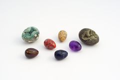 Some Easter eggs made ​​of precious stones Royalty Free Stock Photos