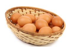 Some eggs in the basket Royalty Free Stock Photos