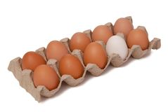 Some eggs in package. Some eggs in carton package royalty free stock photos