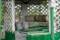 Some elements of the draw well in green. Some elements of the draw well in green Royalty Free Stock Photo