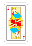 Some empress card hearts Stock Image