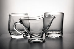 Some empty glassfuls. There are some empty glassfuls tableware Royalty Free Stock Image
