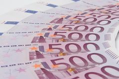 The some euro banknotes Royalty Free Stock Images
