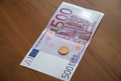 Some Euro Banknotes. A bunch of euro banknotes of diffetent denomination royalty free stock photography