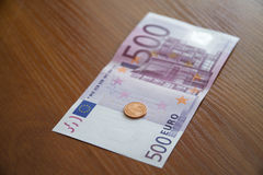 Some Euro Banknotes. A bunch of euro banknotes of diffetent denomination stock photos