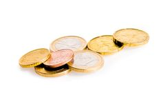 Some euro coins Royalty Free Stock Photos