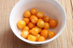 Exotic berries. Some exotic berries with the name physalis stock images